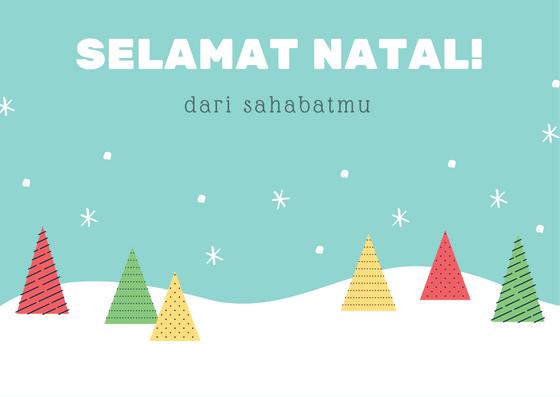 Ucapan selamat Natal sahabat